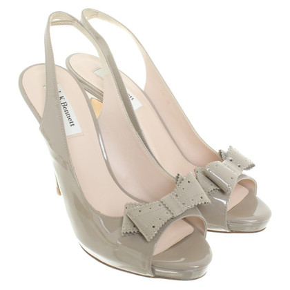 L.K. Bennett Patent leather pumps in beige