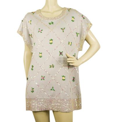 Manoush Kleid mit Pailletten-Besatz
