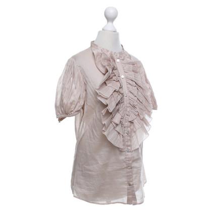Alexander McQueen nude coloured blouse