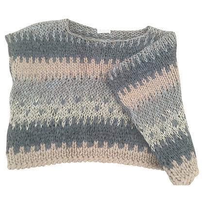 Brunello Cucinelli Asymmetrical knit pullover