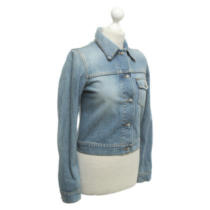 Richmond Veste en jean avec logo imprimé