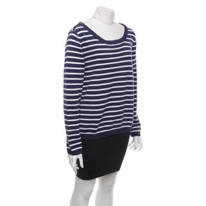 Steffen Schraut Sweater in blue / white