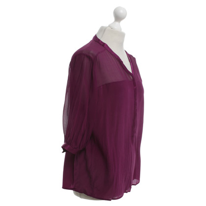French Connection Zijden blouse in fuchsia