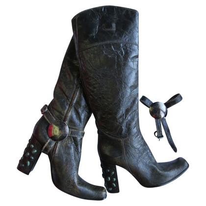 Gianni Barbato Lackleder-Stiefel