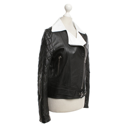 J.W. Anderson Leather jacket in black / white
