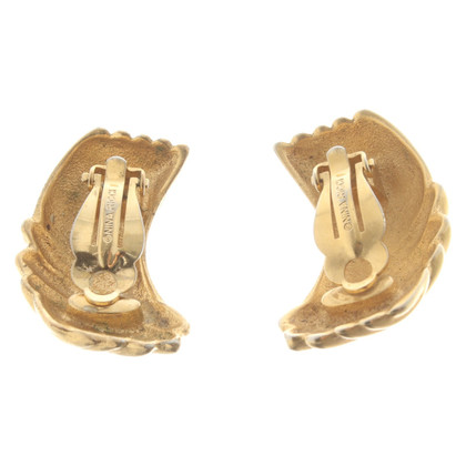 Nina Ricci Gold colored ear clips