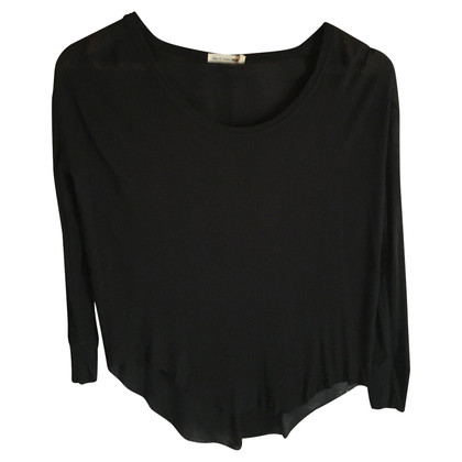 Rag & Bone Top in jersey modale 100% nero a coste UK 6