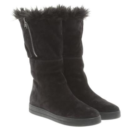 Prada Black Suede boot