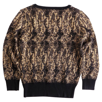 Dries van Noten Trui in zwart / Gold