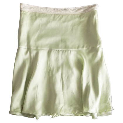 Blumarine Silk skirt with lace details
