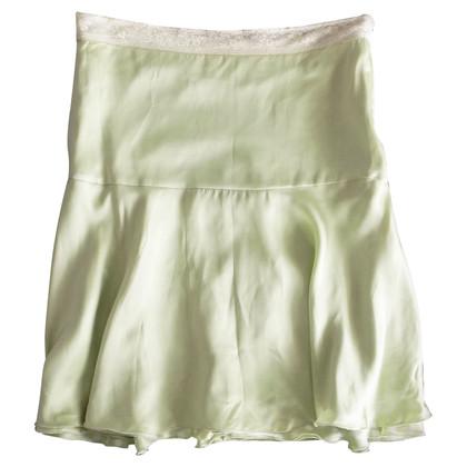 Blumarine Jupe en soie avec des détails en dentelle