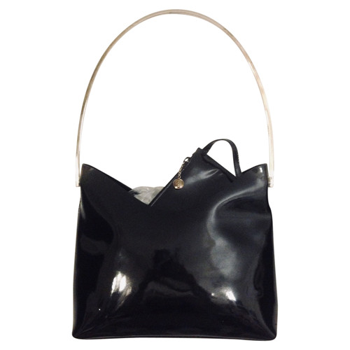 79e8ef9c795 Gucci Handbag Patent leather in Black - Second Hand Gucci Handbag ...