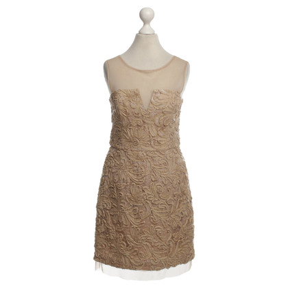 BCBG Max Azria Dress with applications in beige