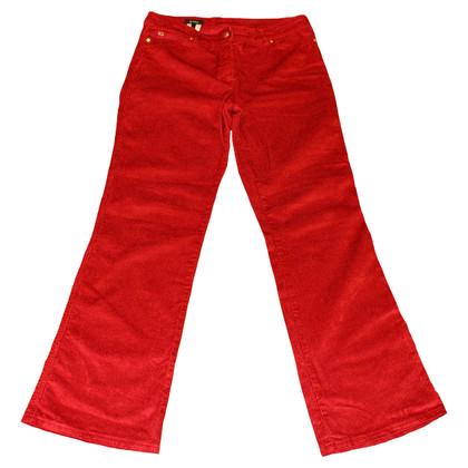 Escada Pants red corduroy