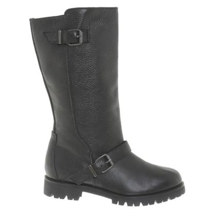 Max Mara Stiefel aus schwarzem Leder