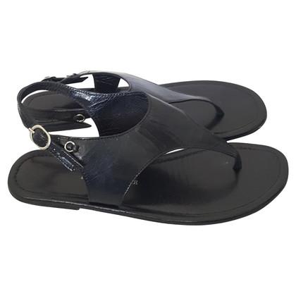 Bruuns Bazaar zwarte Leren sandalen