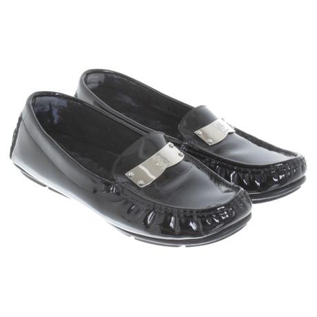 Bogner Loafer aus Lackleder Schwarz