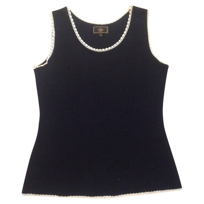 Fendi Viscose top with lace