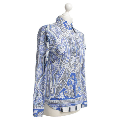 Etro Blouse in blue / white