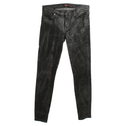 7 For All Mankind Skinny-Jeans in Reptiloptik