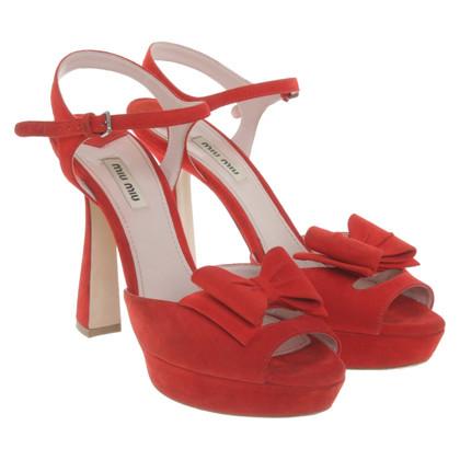 Miu Miu Sandals in red