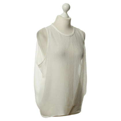 Helmut Lang Semi-transparante top in wit