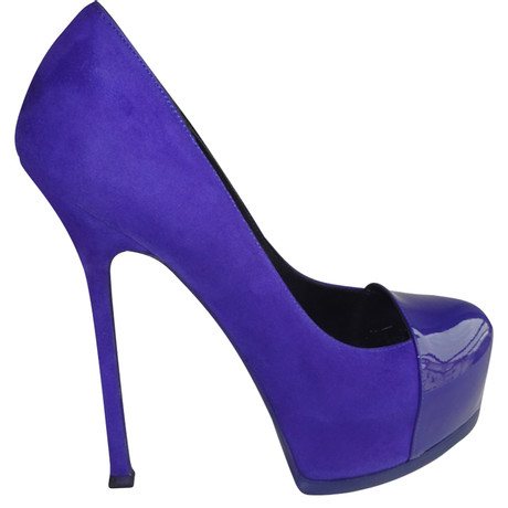 Yves Saint Laurent Plateaupumps Violett