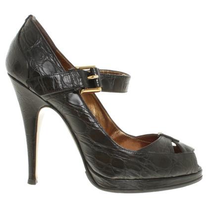 Roberto Cavalli Peep-toes in black