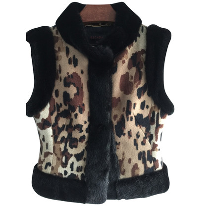 Escada Short vest with mink trim