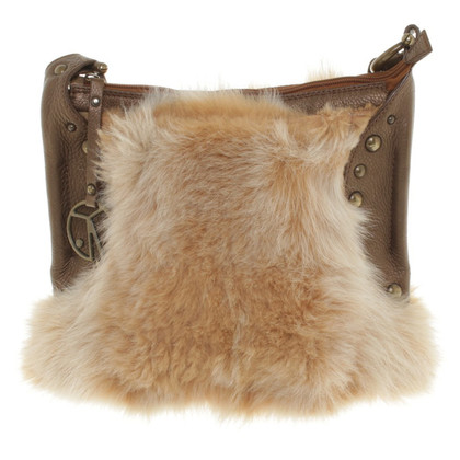 Coccinelle Shoulder bag with fur