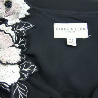 Karen Millen Silk dress with appliqués