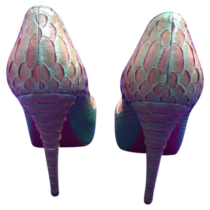 Christian Louboutin Peeptoes Python Leather