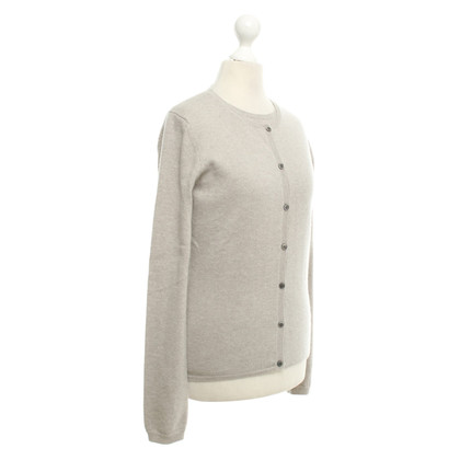 Allude Cashmere twin set in beige-grey