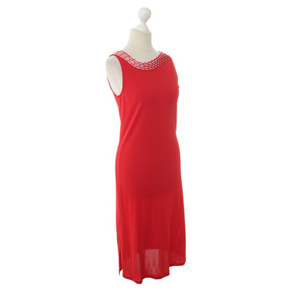 La Perla Red dress with Kragenapplikation