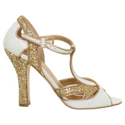 Miu Miu Sandals with gold heels