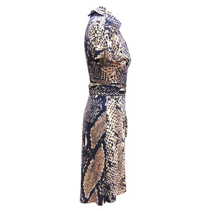 Diane von Furstenberg Wrap dress with reptile print