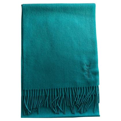 Yves Saint Laurent Echarpe en turquoise