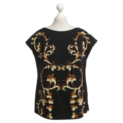 Escada top with motif print