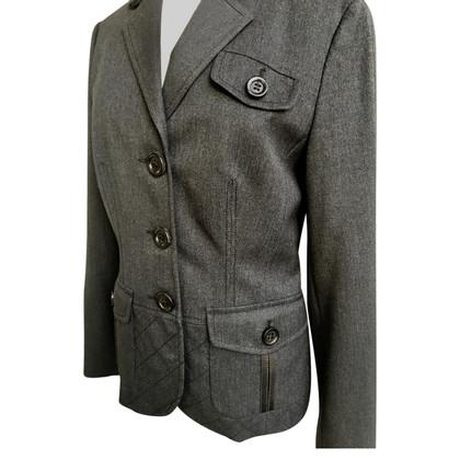 Bogner Wool Blazer with leather trim