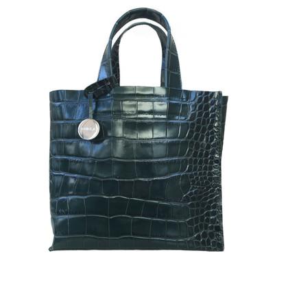 Furla Handtasche im Reptil-Look
