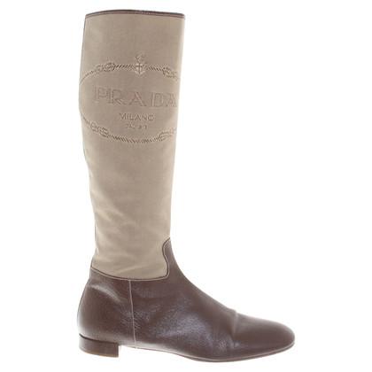 Prada Boots in beige / brown