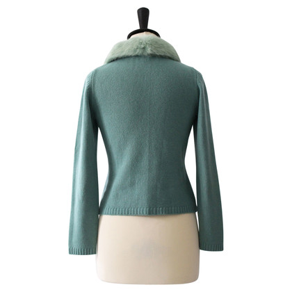Other Designer Sweater with rabbit fur collar