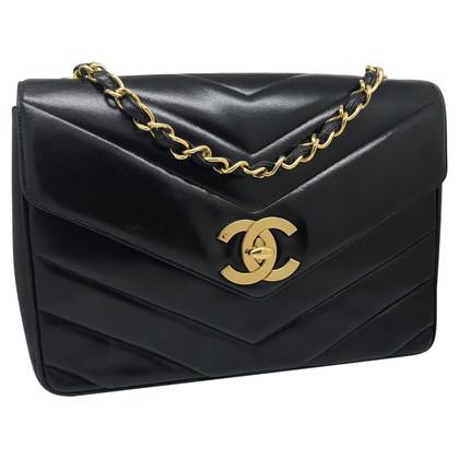 """Chanel """"Jumbo Chevron Flap Bag"""""""