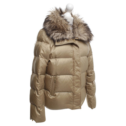 Michael Kors Gold down jacket with faux fur