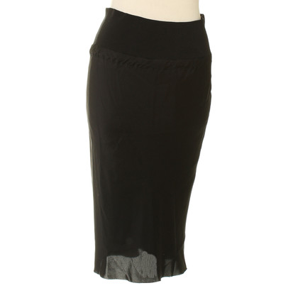 Ann Demeulemeester skirt in black