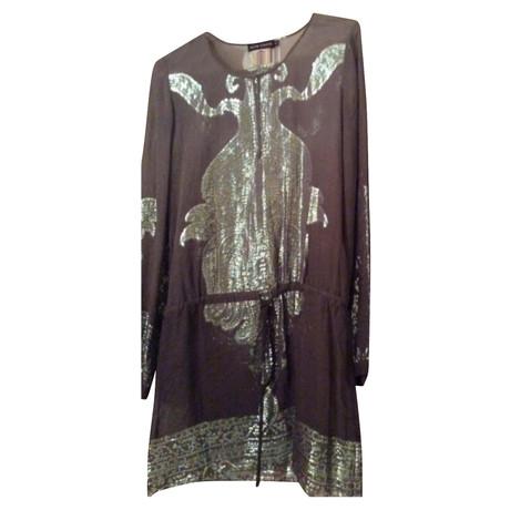 Seidenkleid Antik Batik Antik Silbern Silbern Seidenkleid Batik Antik qY1YIw7