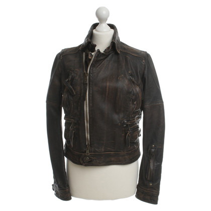 Dsquared2 Leather jacket in Brown
