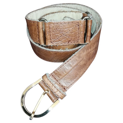 Furla Leather belt with gold buckle