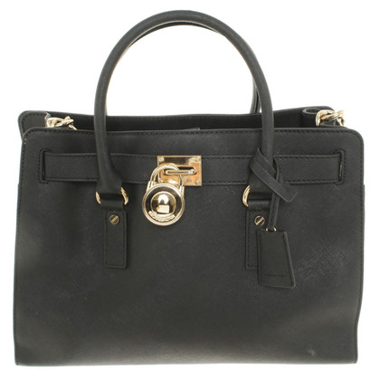 michael kors hamilton lg ew satchel black second hand michael kors hamilton lg ew satchel. Black Bedroom Furniture Sets. Home Design Ideas