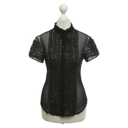 Dolce & Gabbana Short sleeve blouse in black
